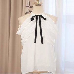 Tops - Max elegant women's slim chiffon blouse tops.